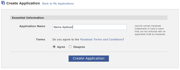 Daftar Facebook application