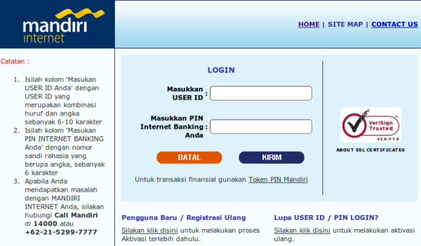 Internet Banking Bank Mandiri
